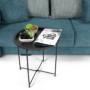 Kép 12/22 - RENDER Kisasztal levehető tálcával,  fekete