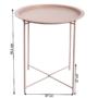 Kép 2/27 - RENDER Kisasztal levehető tálcával,  nude rózsaszín