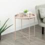 Kép 3/27 - RENDER Kisasztal levehető tálcával,  nude rózsaszín