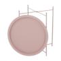Kép 7/27 - RENDER Kisasztal levehető tálcával,  nude rózsaszín