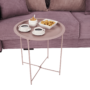 Kép 15/27 - RENDER Kisasztal levehető tálcával,  nude rózsaszín