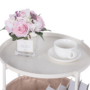 Kép 4/24 - FANDOR Kisasztal levehető tálcával,  fehér/barna