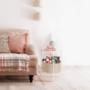 Kép 3/24 - FANDOR Kisasztal levehető tálcával,  fehér/barna