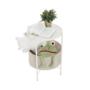 Kép 16/24 - FANDOR Kisasztal levehető tálcával,  fehér/barna