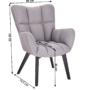 Kép 2/27 - FONDAR Dizájnos fotel,  szürke/fekete