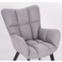 Kép 3/27 - FONDAR Dizájnos fotel,  szürke/fekete