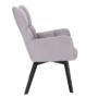 Kép 5/27 - FONDAR Dizájnos fotel,  szürke/fekete