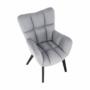 Kép 7/27 - FONDAR Dizájnos fotel,  szürke/fekete