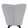 Kép 11/27 - FONDAR Dizájnos fotel,  szürke/fekete