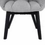 Kép 12/27 - FONDAR Dizájnos fotel,  szürke/fekete