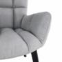 Kép 14/27 - FONDAR Dizájnos fotel,  szürke/fekete