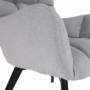 Kép 16/27 - FONDAR Dizájnos fotel,  szürke/fekete
