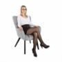 Kép 25/27 - FONDAR Dizájnos fotel,  szürke/fekete