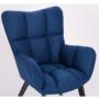 Kép 3/24 - FONDAR Dizájnos fotel,  kék/fekete