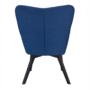 Kép 4/24 - FONDAR Dizájnos fotel,  kék/fekete