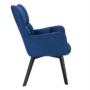Kép 5/24 - FONDAR Dizájnos fotel,  kék/fekete