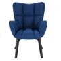 Kép 6/24 - FONDAR Dizájnos fotel,  kék/fekete