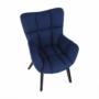 Kép 8/24 - FONDAR Dizájnos fotel,  kék/fekete