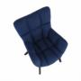 Kép 9/24 - FONDAR Dizájnos fotel,  kék/fekete