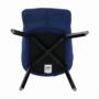 Kép 10/24 - FONDAR Dizájnos fotel,  kék/fekete