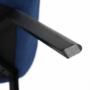 Kép 11/24 - FONDAR Dizájnos fotel,  kék/fekete
