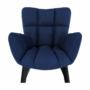 Kép 12/24 - FONDAR Dizájnos fotel,  kék/fekete
