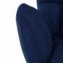 Kép 14/24 - FONDAR Dizájnos fotel,  kék/fekete