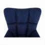 Kép 17/24 - FONDAR Dizájnos fotel,  kék/fekete