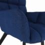 Kép 18/24 - FONDAR Dizájnos fotel,  kék/fekete