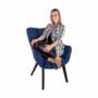 Kép 20/24 - FONDAR Dizájnos fotel,  kék/fekete