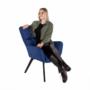 Kép 21/24 - FONDAR Dizájnos fotel,  kék/fekete