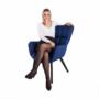 Kép 22/24 - FONDAR Dizájnos fotel,  kék/fekete