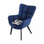 Kép 23/24 - FONDAR Dizájnos fotel,  kék/fekete
