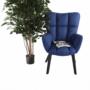 Kép 24/24 - FONDAR Dizájnos fotel,  kék/fekete
