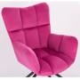Kép 4/29 - KOMODO Dizájnos forgószék,  rózsaszín színű Velvet anyag/fekete