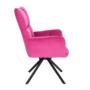 Kép 6/29 - KOMODO Dizájnos forgószék,  rózsaszín színű Velvet anyag/fekete