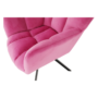 Kép 13/29 - KOMODO Dizájnos forgószék,  rózsaszín színű Velvet anyag/fekete