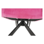 Kép 16/29 - KOMODO Dizájnos forgószék,  rózsaszín színű Velvet anyag/fekete