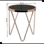 Kép 2/12 - VALERO Sarok/Kisasztal,  rose gold króm rózsaszín/fekete