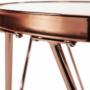 Kép 8/12 - VALERO Sarok/Kisasztal,  rose gold króm rózsaszín/fekete