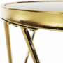 Kép 11/13 - VALERO Sarok/Kisasztal,  gold króm arany/fekete