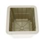 Kép 18/21 - IBLIS Kerti tároló doboz/kisasztal,  fehér