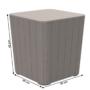 Kép 2/16 - IBLIS Kerti tároló doboz/kisasztal,  szürke