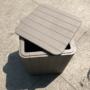Kép 4/16 - IBLIS Kerti tároló doboz/kisasztal,  szürke