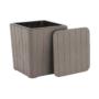 Kép 14/16 - IBLIS Kerti tároló doboz/kisasztal,  szürke