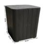 Kép 2/20 - IBLIS Kerti tároló doboz/kisasztal,  fekete