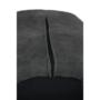 Kép 10/17 - LACEY Design karosszék - szálcsiszolt bőrszövet,  szürke / fekete
