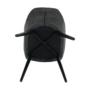 Kép 11/17 - LACEY Design karosszék - szálcsiszolt bőrszövet,  szürke / fekete