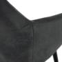 Kép 12/17 - LACEY Design karosszék - szálcsiszolt bőrszövet,  szürke / fekete