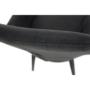 Kép 13/17 - LACEY Design karosszék - szálcsiszolt bőrszövet,  szürke / fekete